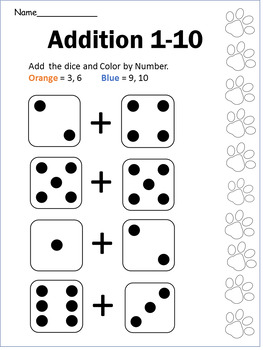 Addition 1-10 with Dice