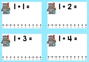 Addition 1 - 10 Number Lines