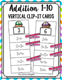 Addition 1-10 Vertical Clip-It Cards
