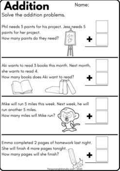 Addition 1-10 Worksheet Pack