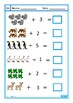 Addition 1-10 Worksheets, Animal Theme, Autism & Special E