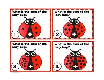 Addition 1-20 Task Card and Walk About Activity: Sum Lady Bug
