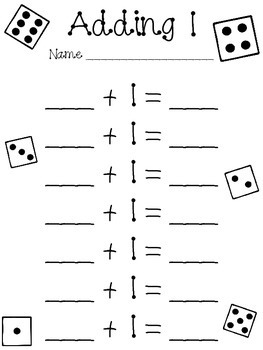 Addition 1-4 Dice Worksheets