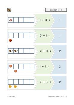 First grade math Addition 1 - 5 Autumn
