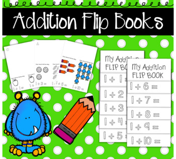 Addition Facts Flip Book 1