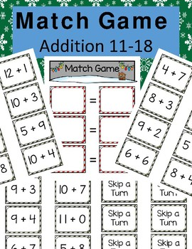 Addition 11-18 Match Game