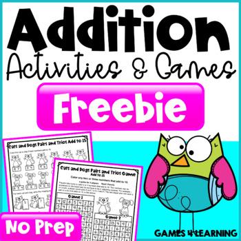 Addition Free NO PREP Addition Games