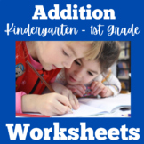 Addition Worksheets | Kindergarten 1st Grade | Adding Numbers