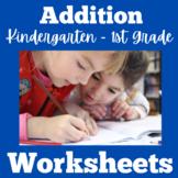 Addition Worksheets Kindergarten First Grade