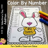 Valentine's Day Color By Number Addition