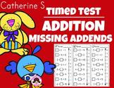 Addition Missing Addends Worksheets