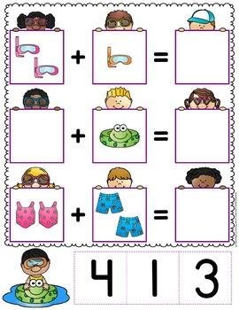 Addition Task Cards Kindergarten