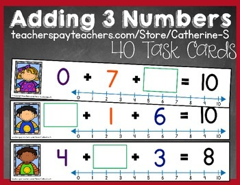 Missing Addends with 3 Numbers