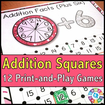 Addition Games: 12 Addition Facts Games