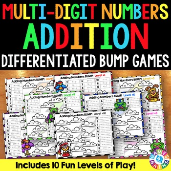 BUMP! Adding Multi-Digit Numbers: 10 Multi-Digit Addition Games