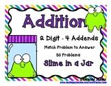 Addition 2 Digit 4 Addends - Jars and Slime Buds