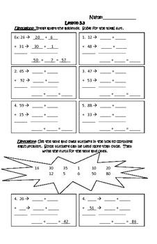 Addition - 2 Digit Math Journal