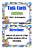 Addition 2-Digit No Regrouping Task Cards