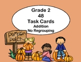 Addition -2-Digit Numbers- Without Regrouping-48 Task Cards-Pumpkin Patch