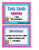 Addition 2-Digit With Regrouping Task Cards