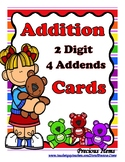 Addition  2-Digit with 4 Addends