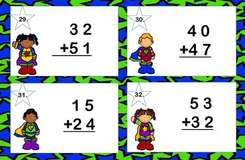 Addition 2 Digits-No Regrouping Task Cards