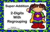 Addition - 2 Digits With Regrouping - Task Cards