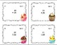Addition 2 Digits by 2 Addends Task Cards- Some Regrouping-Fun Cupcake Theme