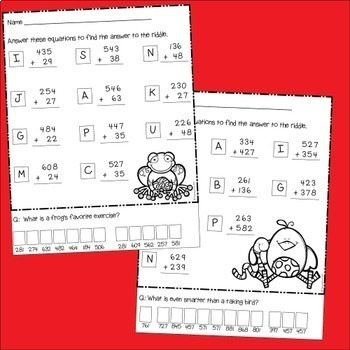 Addition with and without regrouping worksheets and games