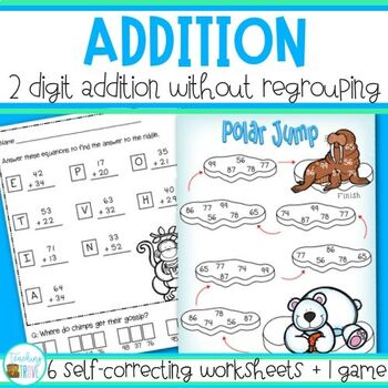 Two Digit Addition without Regrouping Worksheets and Game