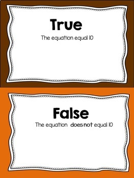 Addition To 10 Math Activity - Math Center - Math Fact Fluency