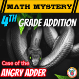 4th Addition Review Activity: Adding larger numbers - Math Mystery