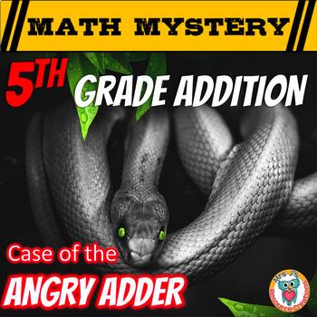 Addition Activity: Math Mystery -- {Adding Numbers, Decima