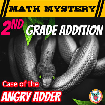 Addition Activity: Math Mystery -- {Adding within 100, Wit