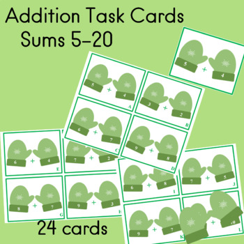 Addition 24 Task Cards Answer Key Sums 5-20