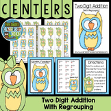 Addition of Two Digit Numbers with Regrouping Center Game