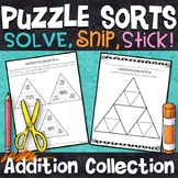 3 and 4 Digit Addition Puzzles