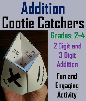 Double and Triple Digit Addition 2nd 3rd Grade Math Game