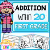 Color by Number Winter Addition Worksheets