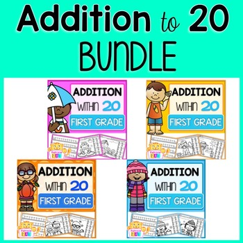Addition to 20 Color by Code Practice Worksheets
