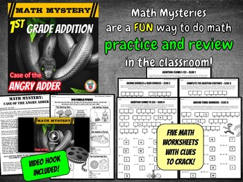 1st Grade Addition Review; Adding Doubles, Facts 1-20 - Math Distance Learning