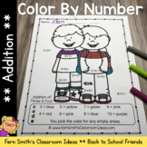 Color By Numbers Making New Friends at School Addition