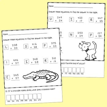 Addition - 3 + 2 digit with regrouping