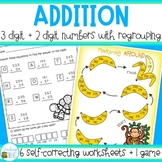 Three and Two digit addition with regrouping Worksheets and Game