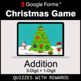 Addition: 3-Digit + 1-Digit   Christmas Decoration Game  