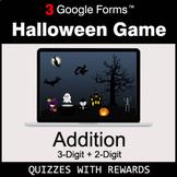 Addition: 3-Digit + 2-Digit   Halloween Decoration Game  