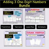 Addition 3 One/Single Digit Equations, Missing Addends, Ta