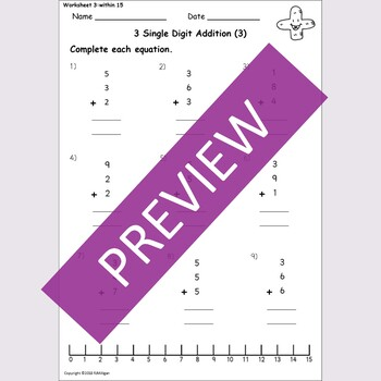 Addition: Column Addition Adding 3 Numbers - Worksheets