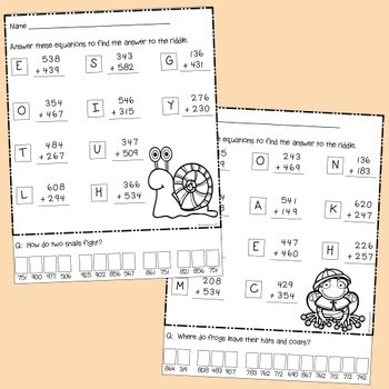 Three Digit Addition with Regrouping and Game