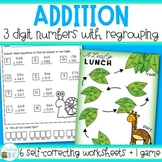 Three Digit Addition with Regrouping and Game | Distance Learning